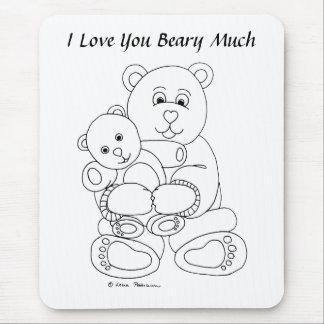 I Love You Beary Much Mouse Pad