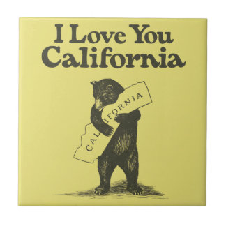 I Love You California Small Square Tile
