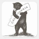 I Love You California Square Stickers