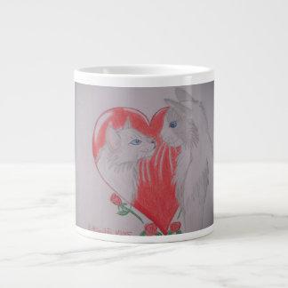 I Love You Cats Jumbo Mug