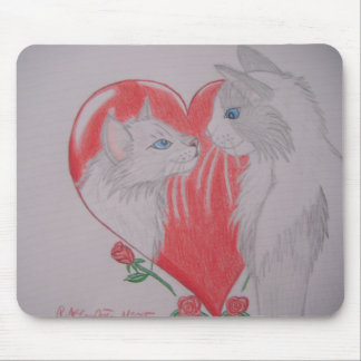 I Love You Cats Mouse Pad
