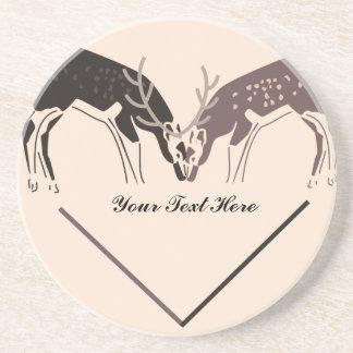 I Love You Deer Coaster
