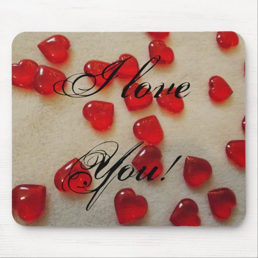 I Love You! Design Mousepad