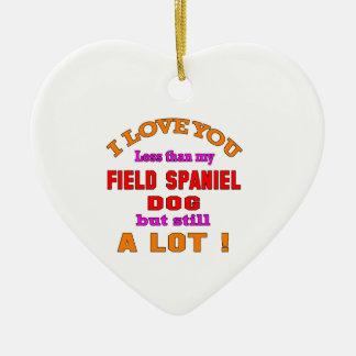I love you Field Spaniel Dog Christmas Ornament