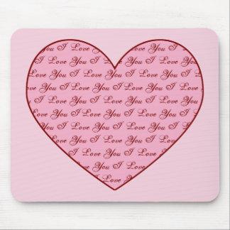 I Love You Heart Mousepad