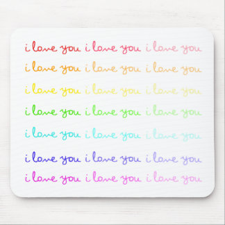 i love you i love you i love you mousepad