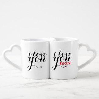 """""""I love you. I love you more."""" Jumbo Mug"""