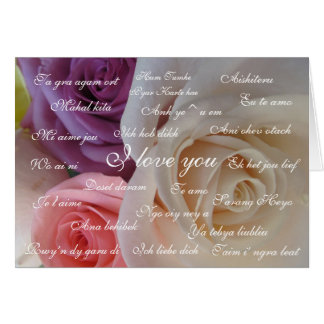 """ I love you "" in 23 languages Card"