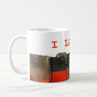 I love you in vintage typewriter coffee mug