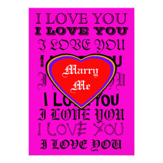 I LOVE YOU Marry Me The MUSEUM Zazzle Gifts Personalized Invites