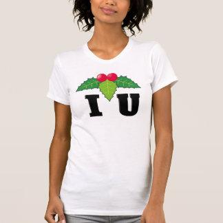 I Love You/Mistletoe Black T-Shirt