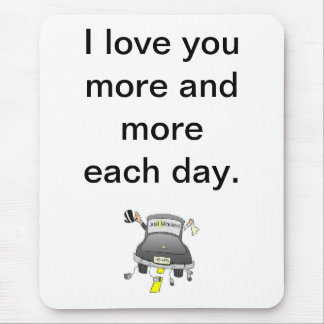 i love you more mouse pad