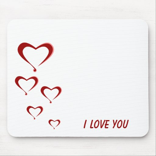 I love you mouse mat
