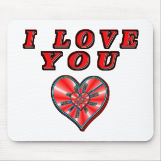 I Love You Mouse Pad