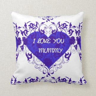I LOVE YOU MUMMY ROMANTIC BLUE GIFT PILLOW