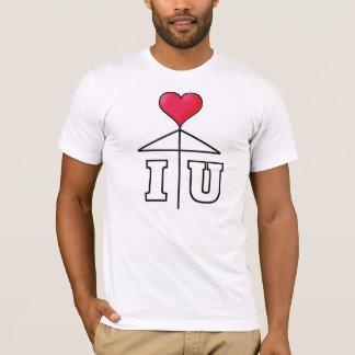 I love You/One Heart Love Umbrella/Mistletoe2 BL T-Shirt