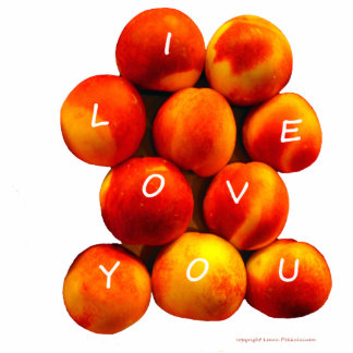 I Love You Peaches Standing Photo Sculpture