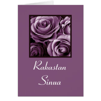 I LOVE YOU  Rakastan sinua Finnish Greeting Card