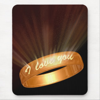 """I love you"" Ring - Mousepad"
