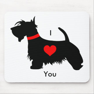 I love you Scottie dog mouse mat