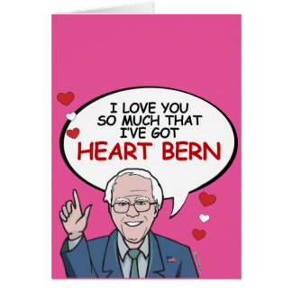 I love you so much I've got Heart Bern Card