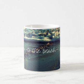 I love you to the beach and back basic white mug