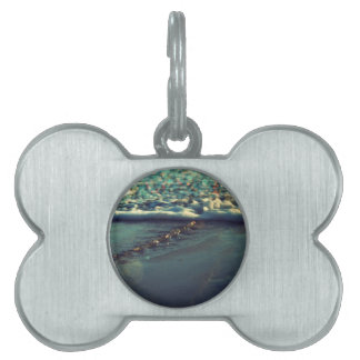 I love you to the beach and back pet ID tags