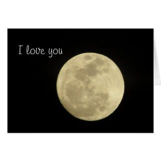 I love you to the moon and back. card