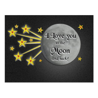 I Love You to the Moon Postcard