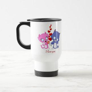 I Love You Travel/Cummuter Mug. Stainless Steel Travel Mug