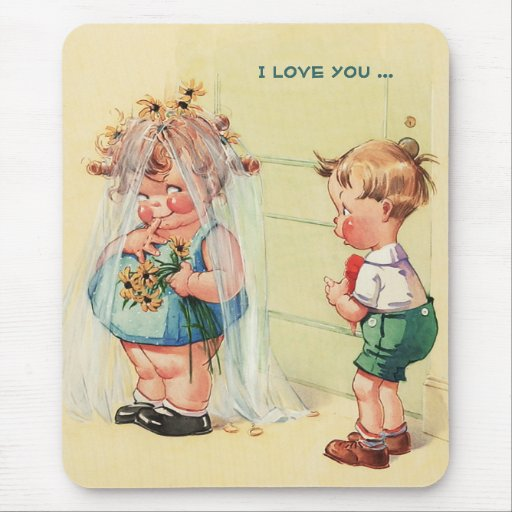 I Love You. Valentine's Day Gift Mousepad