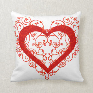 I LOVE YOU WHITE ROMANTIC RED BLACK GIFT  PILLOW