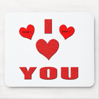 I Love You With All My Heart Mouse Pad