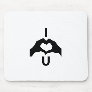 I Love You (With Hand Signs) Mouse Pad