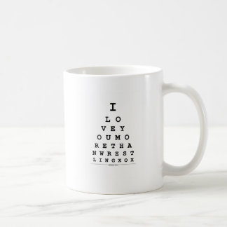 I Love You Wrestling Valentine's Day Coffee Mug
