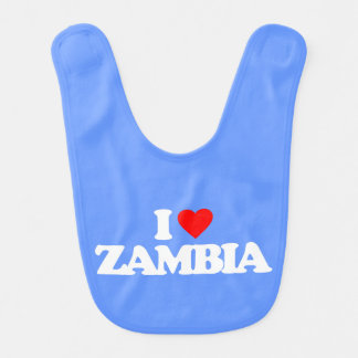 I LOVE ZAMBIA BABY BIBS