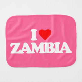 I LOVE ZAMBIA BURP CLOTHS