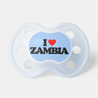 I LOVE ZAMBIA BABY PACIFIER