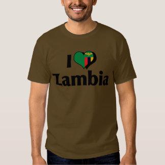 I Love Zambia Flag Shirt