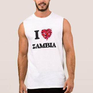 I Love Zambia Sleeveless T-shirt