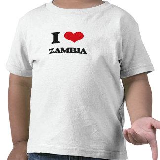 I Love Zambia T Shirts