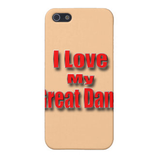 I LoveMy Great Dane Case For iPhone 5/5S
