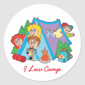 I Luv Camp Stickers