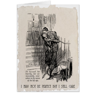 I May Not Be Perfect - Vintage 1920's Card