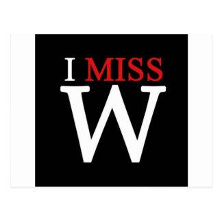 i MISS W Postcard