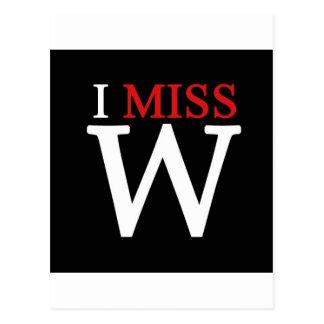 i MISS W! Postcard