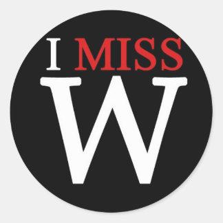 i MISS W Round Sticker