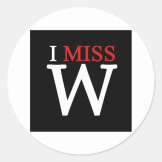 i MISS W! Round Sticker