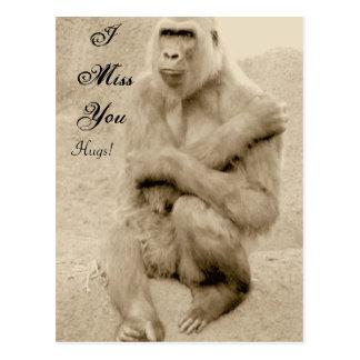 I MissYou, Hugs!_ Postcard