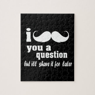 I mustache you a question jigsaw puzzle